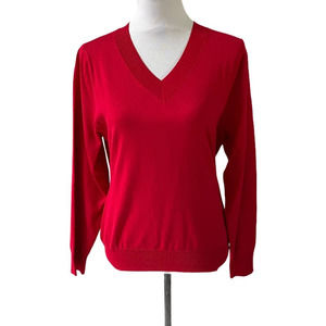 LalaBEE Red V-Neck Sweater Size XL NWT